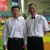 ХЦДээд сургуулийн тэнхимийн дарга Монгол-Зо урлагийн мастер В.Жавхланцогт Холбооны захирал СТАжилтан багш Д.Алтанхүүгийн хамт